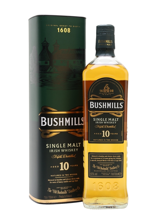 BUSHMILLS SINGLE MALT 10 YEARS